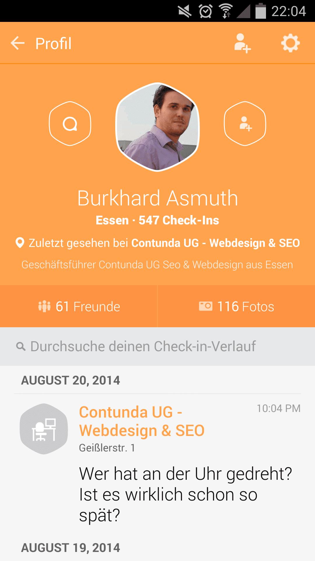 Swarm Account von Burkhard Asmuth