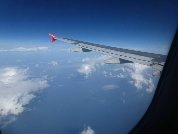 Schreibplatz Flugzeug