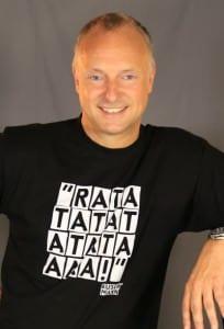 Frank Buschmann mit Ratatatata-Shirt