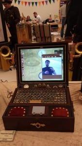 Webcam in einer Schreibmaschine