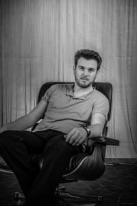 Burkhard Asmuth auf dem Stuhl